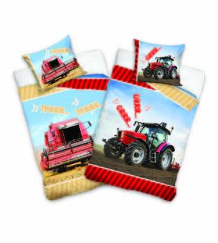 Carbotex, Pościel dziecięca, bawełniana, Traktor, 160x200 cm-Carbotex
