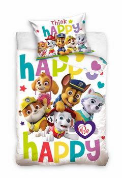 Carbotex, Psi Patrol, Pościel niemowlęca do łóżeczka, Be Happy, 100x135 cm-Carbotex