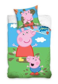 Carbotex, Świnka Peppa, Pościel dziecięca, bawełniana, 160x200 cm-Carbotex