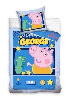 Carbotex, Świnka Peppa, Pościel dziecięca, George, 160x200 cm-Carbotex