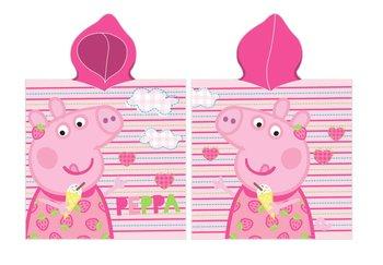 Carbotex, Świnka Peppa, Ręcznik plażowy z kapturem/Poncho, 50x115 cm-Carbotex