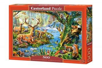 Castor, puzzle Leśne życie-Castorland