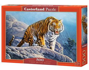Castor, puzzle tygrys na skale, 500 elementów-Castorland
