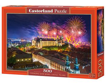Castorland, puzzle Fireworks over Wawel Castle Poland-Castorland