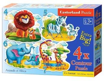 Castorland, puzzle konturowe 4w1-Castorland