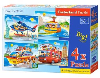 Castorland, Travel the World, puzzle tradycyjne 4w1-Castorland