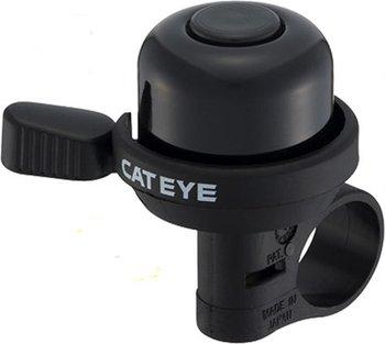 Cateye, Dzwonek rowerowy, Wind Bell PB-1000, czarny, rozmiar uniwersalny-Cateye