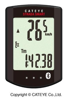 Cateye, Licznik + czujniki prędkości i pulsu, STRADA SMART CC-RD500B, czarny-Cateye