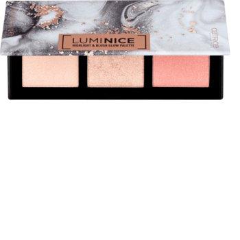 Catrice, Luminice, paleta rozświetlaczy do twarzy 010 Rose Vibes Only, 12,6 g-Catrice