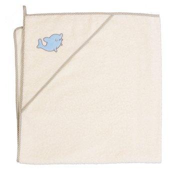 Ceba, Okrycie kąpielowe/Ręcznik z Kapturem, Delfin, Beżowy, 100x100 cm-Ceba