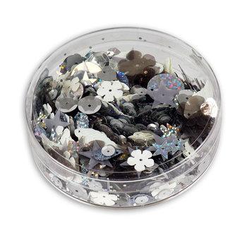Cekiny ozdobne, 55 g, srebrne