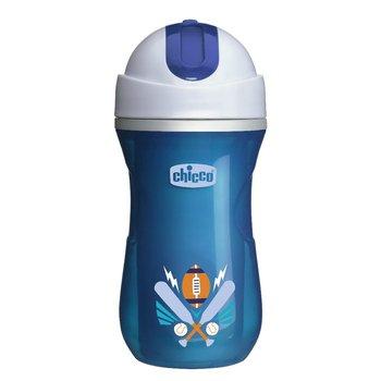 Chicco, Kubek treningowy niekapek ze słomką, Termiczny, 14m+, 266 ml, Niebieski-Chicco
