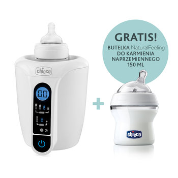 Chicco, Podgrzewacz Digital i butelka NaturalFeeling, 150 ml-Chicco