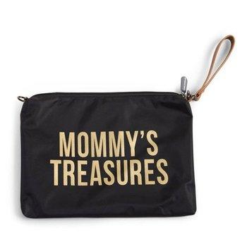 Childhome, Mommy's Treasures, Torebka/Saszetka, Czarny/Złoty-Childhome