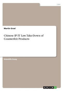 Chinese IP IT Law. Take-Down of Counterfeit Products - Grod Martin