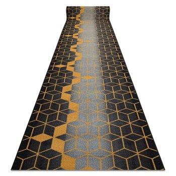 CHODNIK podgumowany 67 cm HEKSAGON czarny / złoty, 67x160 cm-Dywany Łuszczów