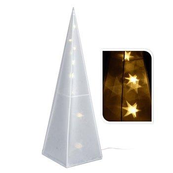 Choinka stożek hologram z podświetleniem LED, 45 cm-DekoracjaDomu.pl