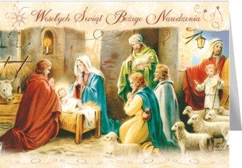 Cicha noc kartka świąteczna, z tekstem, BR-T 02-Czachorowski