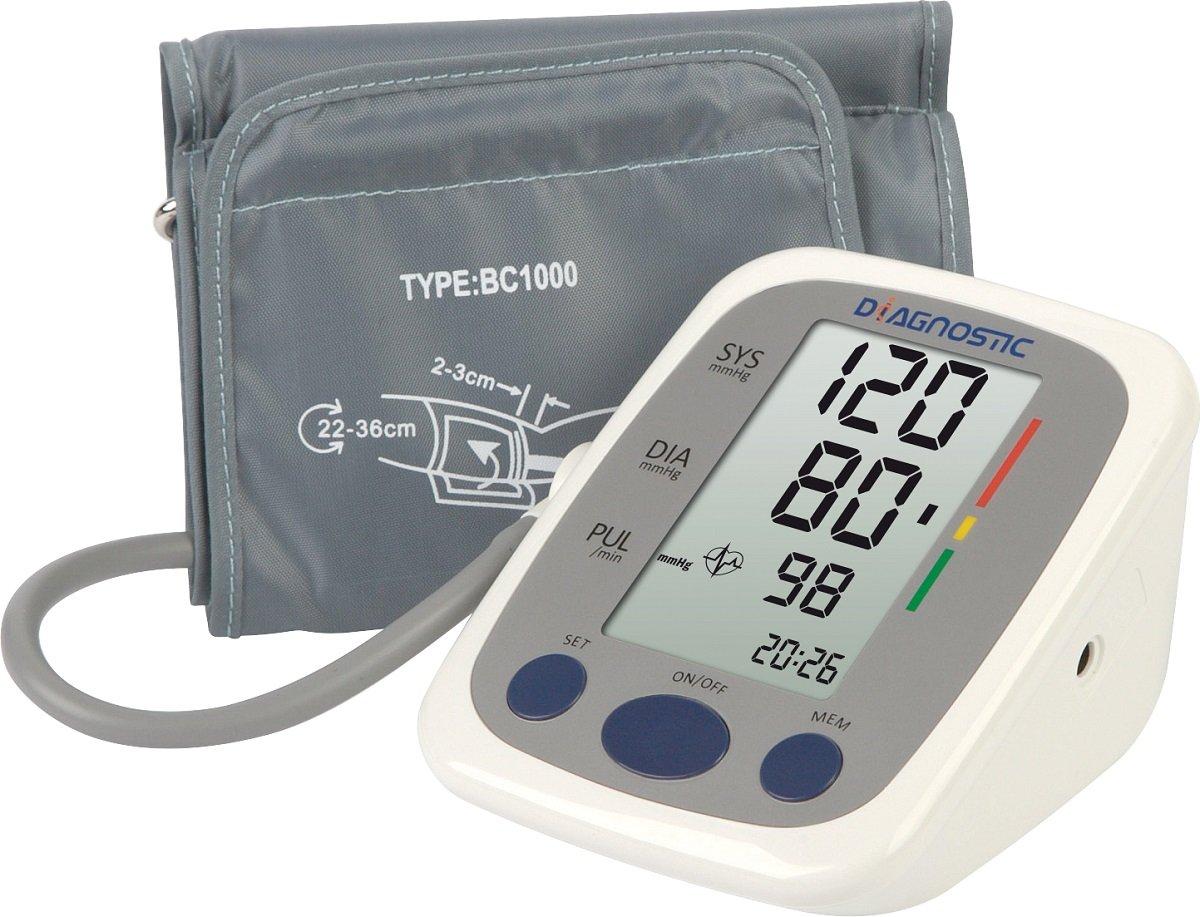 Ciśnieniomierz automatyczny naramienny z zasilaczem DIAGNOSTIC S-500, biały