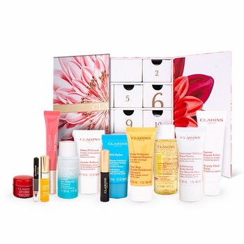 Clarins, Luxury Beauty Advent Calendar 12 Days, zestaw kosmetyków, 12 szt.-Clarins
