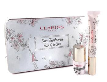 Clarins, Natural Lip Perfector, zestaw kosmetyków, 2 szt. + kosmetyczka-Clarins