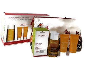 Clarins, zestaw kosmetyków, 3 szt. + kosmetyczka-Clarins