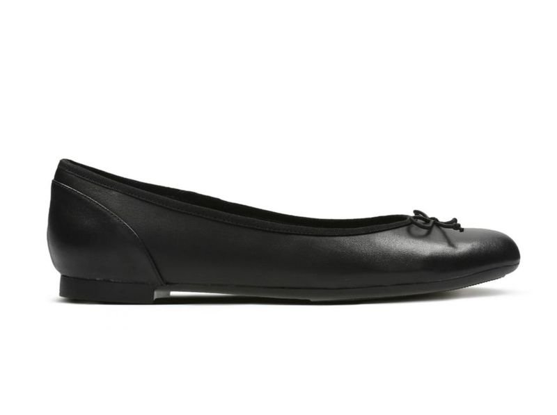 Clarks, Baleriny damskie, Couture Bloom, czarny, rozmiar 40
