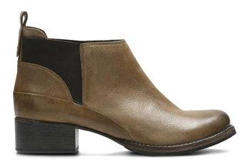 Clarks, Botki damskie, Monica Pearl Tan Leather, rozmiar 36-Clarks