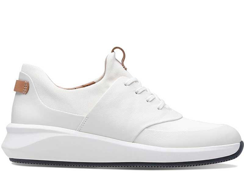 Clarks, Buty sportowe damskie, Un Rio Lace białe, rozmiar 37 12