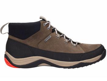 Clarks, Buty trekkingowe męskie, Baystone HI GTX, brązowy, rozmiar 40-Clarks