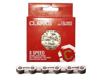 Clarks, Łańcuch rowerowy, YBN CSL-H8CR Shimano Campagnolo Sram, srebrny-Clarks