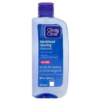 Clean & Clear, oczyszczający tonik do twarzy przeciw wągrom, 200 ml-Clean & Clear