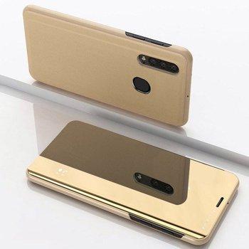 Clear View Case futerał etui z klapką Samsung Galaxy A50s / Galaxy A50 / Galaxy A30s złoty - Złoty-Hurtel