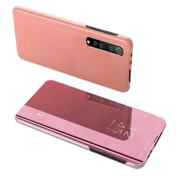 Clear View Case futerał etui z klapką Xiaomi Mi Note 10 Lite różowy - Różowy-Hurtel
