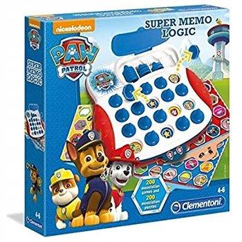 Clementoni, zestaw gier edukacyjnych Super Memo Logic Psi Patrol-Clementoni