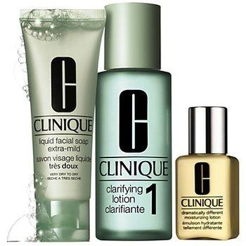 Clinique, 3 kroki Clinique nr 1 do skóry suchej, zestaw kosmetyków, 3 szt.-Clinique