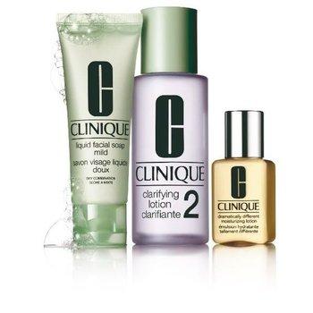 Clinique, 3 kroki Clinique nr 2 do skóry mieszanej w kierunku suchej, zestaw kosmetyków, 3 szt.-Clinique