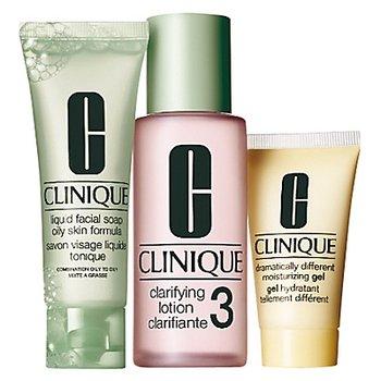 Clinique, 3 kroki Clinique nr 3 do skóry mieszanej w kierunku tłustej, zestaw kosmetyków, 3 szt.-Clinique