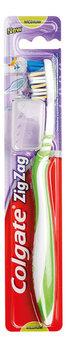 Colgate, Zig Zag Plus, szczoteczka do zębów średnia, 1 szt.-Colgate