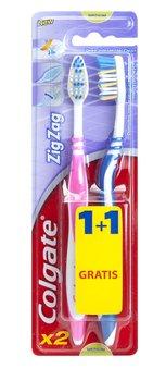 Colgate, Zig Zag Plus, szczoteczka do zębów średnia, 2 szt.-Colgate