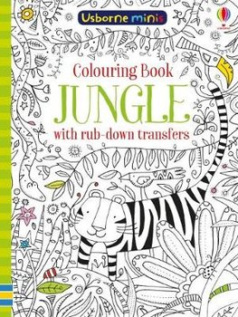 Colouring Book Jungle with Rub Down Transfers-Smith Sam