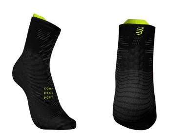 Compressport, Skarpety do biegania, ProRacing Socks Hi v3.0 BLACK EDITION 2019, czarny, rozmiar 39/41-Compressport