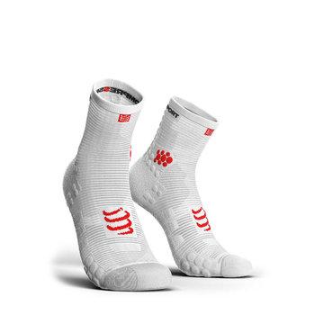 Compressport, Skarpety, Pro Racing Socks V3 Run High (RSHV3-0000), biały, rozmiar T2-Compressport