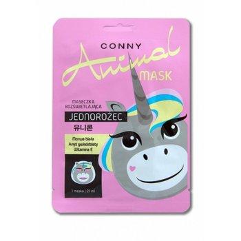 Conny, Animal Mask, maseczka rozświetlająca w płachcie Jednorożec, 21 ml-Conny