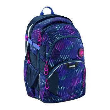 Coocazoo, plecak szkolny JobJobber II, Purple Illusion, system MatchPatch-Coocazoo