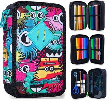Coolpack, piórnik z wyposażeniem,  Jumper 3, wiggly eyes-CoolPack