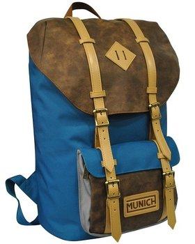 Copywrite, plecak młodzieżowy, Munich Hipster, niebiesko-brązowy-Copywrite