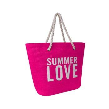 Corvet, Torba plażowa, BB 7007-01, Summer Love, różowa-CORVET