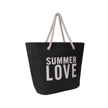 Corvet, Torba plażowa, BB 7007-81, Summer Love, czarna-CORVET