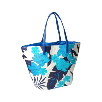 Corvet, Torba plażowa, BB 7017-47, niebiesko-granatowe kwiaty-CORVET